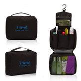 رجالي شنطة سفر شنطة غسيل وشمع منظم حقيبة طقم حقيبة أسود وأزرق