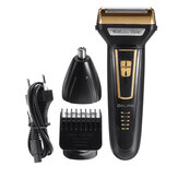 3 In 1 Men's Electric Hair Clipper Rechargeable Hair Cutter Nose Hair Beard Trimmer