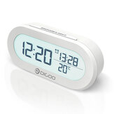 DIGOO DG-AN0471 Digital Alarm Clock Real-Time Temperature Display with Snooze Function