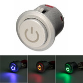 12V 10A 22mm LED Auto-lock Power Push Button Switch ON/Off 3 Colors