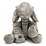 50x45cm Grey Large Elephant Plush Stuffed Pillows Cushion Gift Bedding Decor Back Cushions