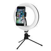 Bakeey 8 in RGB LED Selfie Ring Fill Light Dimmable Studio Ring Lamp With Metal Stand