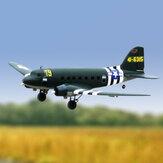 Dynam C47 Skytrain Green V2 1470 мм Размах крыла EPO Twin Двигатель Самолет с радиоуправлением для начинающих PNP