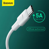 Baseus 5A Warp OPPO VOOC Certified USB Type-C Cable Fast Charging Data Sync Cord Line Support AFC/QC/FCP Protocols 2m/6.6ft For Type-C Smart Phones For Samsung Galaxy S20 Ultra Huawei P40 OnePlus 8 Xiaomi For Nintendo Switch
