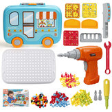 Children Electric Drill Screw Toys DIY Assembly Puzzle Kit Kids Educational Toys Gift