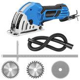 550W 4200rmp Mini-cirkelzaag Elektrisch handheld multifunctioneel houtbewerkingsgereedschap met 3 messen