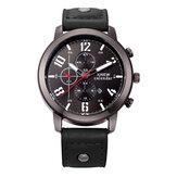Модные повседневные мужские часы Date Дисплей с кожаным ремешком и кварцевыми часами