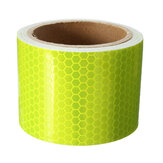 10FT Fluorescent Yellow Reflecterende Veiligheidswaarschuwing Conspicuity Tape Film Sticker