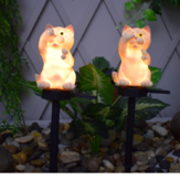Solar Power LED Cat Lawn Light Outdoor Waterproof Garden Yard Landscape Lamp