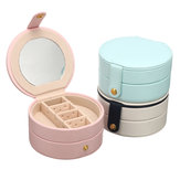 Portable Travel Round Multi-Layer Jewelry Box