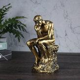 Creatieve karakter sculptuur denker peinzende decoratie woonkamer studeerkamer model kantoor kantoor decoratie