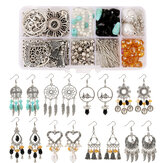 Vintage DIY Earring Set Handmade Earring Material Accessories Set Bag