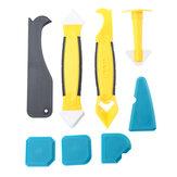 8Pcs Sealant Caulk Angle Scraper Seamless Silicone Grout Rubber Glass Glue Remover Tool