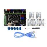 MKS-GEN L V1.0 Mainboard Controlador Integrado + 5 pcs TMC2208 V1.0 Driver de Passo Motorista Rampas Compatíveis1.4 / Mega2560 R3 Para Impressora 3D