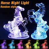 3D RGB LED مصباح مكتب الوهم ضوء الليل زخرفة الحصان للمنزل سيارة حفل زفاف