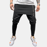 Men's Sliming Personality Leisure Two-layer Sport Pants