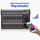 12-канальный Live Studio Audio Mixer Усилитель Профессиональное микширование USB Bluetooth