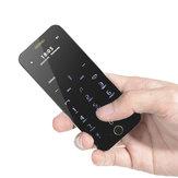 Anica A9+ Ultra-fino Dual SIM Bluetooth MP3 680mAh Controle Remoto Phone Celular Cartão Mini