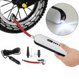 Pompa per bici 2-in-11 120 PSI 12V Pompa per aria elettrica carica SB campeggio Pompa per pallacanestro portatile da ciclismo leggera Strumenti con 4 ugelli