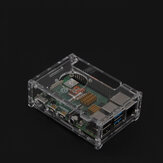 Transparent Acrylic Raspberry Pi 4B Case Box Support Cooling Fan Instal
