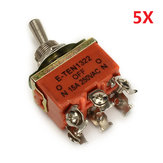 On / off / on 250V AC 15a 6 pin interruttore a levetta a bilanciere 5pcs KN-1322 wendao