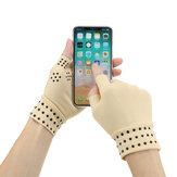 1Pair Magnetic Therapy Fingerless Gloves Arthritis Pain Relief Heal Joints Braces Supports Health Care Tool