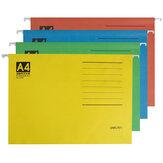 Deli 5468 A4 Dossier de suspension de dossier de classement du travail rapide Clip papier organisant quatre couleurs stockage de fichiers pour la papeterie d'école de bureau