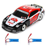 Wltoys K969 1/28 2.4G 4WD Børstet RC Car Drift Car To Batteri