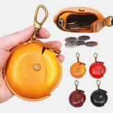 Unisex Genuine Leather Round Shape Creative Casual Coin Bag Storage Bag Wallet