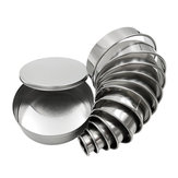 12 Pcs DIY Putaran Stainless Steel Mousse Lingkaran Cincin Cetakan Kue Kue Pastry Baking Cutter Mold Set
