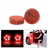 2PCS 5 LED Car Door Open Warning Light Anti-collision Red Flashing Signal Lamp Waterproof with Magnetic Sensor
