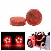 2 SZTUK 5 LED Drzwi samochodu Otwarte ostrzeżenie Światło antykolizyjne Czerwona Lampa migająca Lampa wodoodporna z czujnikiem magnetycznym