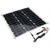 Portable 40W 12V/5V Solar Panel Battery DC/USB Charger For RV Boat Camping Traveling
