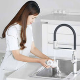 DABAI Kitchen Sink Sensor Faucet w/ Pre-rinser Sprayer Induction Rotatable Touchless One Handle Hot Cold Mixer Tap from XIAOMI youpin