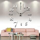 Parede moderna 3D Relógio Adesivo de espelho Único Grande Número Relógio Acrílico Número Parede Relógio para decoração de casa