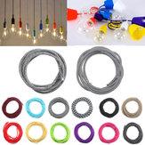 3m couleur 2 cordon câble lumière tissu tressé torsion cru fil électrique