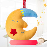 Yellow Moon Good Night Music Baby Bell Toy Kids Children Gift Room Decoration Stuffed Plush Toys