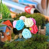 Miniature rose ornements pot artisanat végétale jardin bonsaï décoration bricolage
