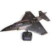 HLK-31 EPP 640mm Lebar Sayap 2.4Ghz 6CH Auto-return 3D Stunt RC Airplane dengan FC Mode 2 RTF Remote Controlled War Fighter Aircraft Sayap Tetap Siap Terbang