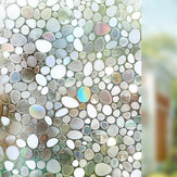 90 x 100cm Anti-UV Privacy Static Cling Cover Stained Frosted 3D Window Glass Film Sticker Home Decor
