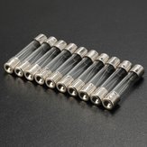 10pcs 2A-25A Amp Glass Quick Blow Fast Acting Fuses 6.3mm x 30mm