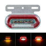 1PC 12LED 12V LED indicador de luz de sinal de marcador lateral para caminhões reboques