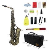 Slade High Grade Antique Eb E-flat Alto Saxophone Sax Abalone Shell Key Carve Pattern with Case Gloves Straps Mouthpiece