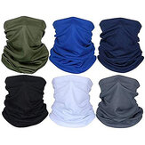 6PCS Seamless Bandanas Multi-Functional Scarf Elastic Headband UV Protection for Yoga Running Hiking Cycling Motorcycling