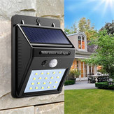 2pcs Solar Power 20 LED PIR Motion Sensor Wall Light Waterproof  Outdoor Path Yard Garden Security Lamp