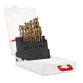 Drillpro Twist Drill Bit Set til Metal & Wood Titanium Coated HSS Drill Bits with Storage Box Elværktøj Tilbehør