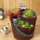Giardino pensile in vaso micro paesaggio vegetale a base di carne vasi piccola casa decorazione della resina
