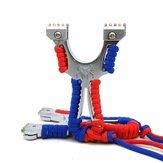 1cáihợpkimchiếnthuật sling-shot Bow Aiming Tablet Rubber Band Sling Đào tạo công cụ chụp