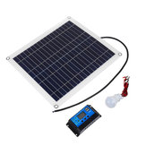 Monocrystalline Solar Panel Solar Powered Panel Kit 2Pcs 5W Bulb With 10A Solar Controller