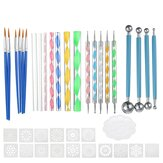 40Pcs Mandala Dotting Tools Set Rock Painting Kit Nail Art Pen Paint Stencil